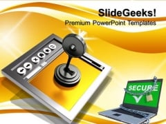 Secure Internet Connection Security PowerPoint Templates And PowerPoint Themes 0712
