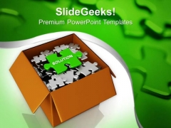 Secure The Right Solution In Business PowerPoint Templates Ppt Backgrounds For Slides 0413