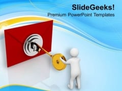 Secure Your Business Mails PowerPoint Templates Ppt Backgrounds For Slides 0713