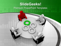 See All The Gear Ideas In Team Meeting PowerPoint Templates Ppt Backgrounds For Slides 0713