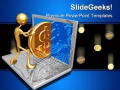Send Dollar Internet PowerPoint Template 0810
