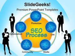 Seo Process Business PowerPoint Templates And PowerPoint Backgrounds 1211