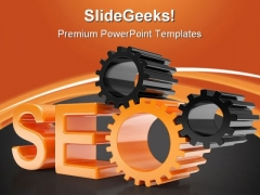 Seo Search Engine Gears Technology PowerPoint Themes And PowerPoint Slides 0411