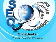 Seo Search Globe PowerPoint Templates And PowerPoint Backgrounds 0911