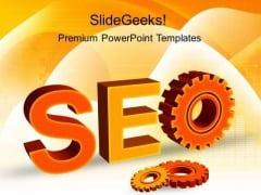 Seo With Gears Industrial PowerPoint Templates And PowerPoint Themes 0212