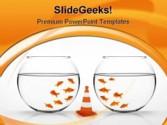 Separation Between Animal PowerPoint Template 0810