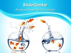 Separation Between The Peoples Business PowerPoint Templates And PowerPoint Backgrounds 0411