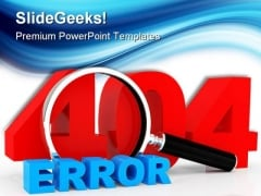 Server Error404 Technology PowerPoint Templates And PowerPoint Backgrounds 0111