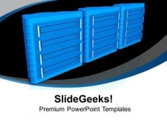Server With Cloud Concept PowerPoint Templates Ppt Backgrounds For Slides 0813