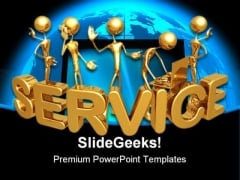 Service Computer PowerPoint Template 0510