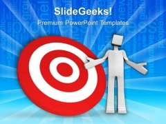 Set The Business Targets PowerPoint Templates And PowerPoint Themes 0612