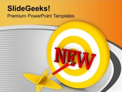Set The New Target For Business PowerPoint Templates Ppt Backgrounds For Slides 0513