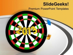 Set The Target For 2013 PowerPoint Templates Ppt Backgrounds For Slides 0513