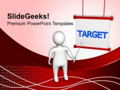 Set The Target For Team In Business PowerPoint Templates Ppt Backgrounds For Slides 0513