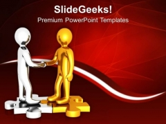 Shake Hand With Business Partner For Growth PowerPoint Templates Ppt Backgrounds For Slides 0613