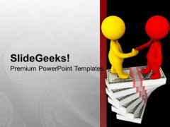 Shake Hand With Business Partner PowerPoint Templates Ppt Backgrounds For Slides 0613