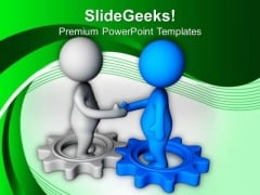 Shake Hand With Partner PowerPoint Templates Ppt Backgrounds For Slides 0613
