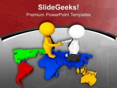 Shake Hands For Global Relation PowerPoint Templates Ppt Backgrounds For Slides 0613
