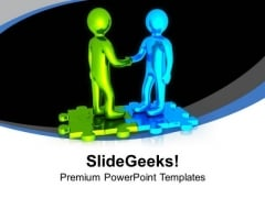Shake Hands With Business Partners For Success PowerPoint Templates Ppt Backgrounds For Slides 0613