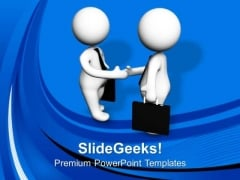 Shake Hands With Clients For Business Growth PowerPoint Templates Ppt Backgrounds For Slides 0613