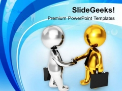 Shake Hands With Right Customer PowerPoint Templates Ppt Backgrounds For Slides 0613