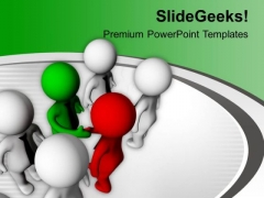 Shake Hands With Team Leader PowerPoint Templates Ppt Backgrounds For Slides 0713