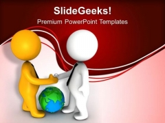 Shake Your Hands For Global Deal PowerPoint Templates Ppt Backgrounds For Slides 0613