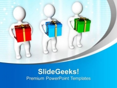 Share Gifts With Friends PowerPoint Templates Ppt Backgrounds For Slides 0513