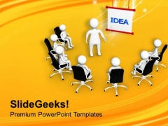 Share The Idea With Team Members PowerPoint Templates Ppt Backgrounds For Slides 0513