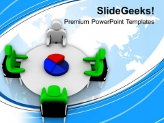 Share The Pie Chart Of Business Results PowerPoint Templates Ppt Backgrounds For Slides 0613