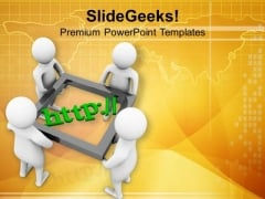 Share Views On Internet PowerPoint Templates Ppt Backgrounds For Slides 0713
