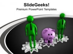Share Your Saving In Business Partnership PowerPoint Templates Ppt Backgrounds For Slides 0613