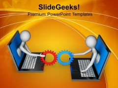Sharing Information 3d Illustartion PowerPoint Templates Ppt Backgrounds For Slides 0813