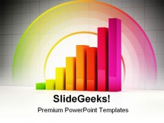 Shiny Bar Graph Business PowerPoint Template 0910