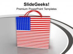 Shopping Bag Symbol Of Americana PowerPoint Templates Ppt Backgrounds For Slides 0313