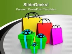 Shopping Bags And Gifts Festival PowerPoint Templates Ppt Backgrounds For Slides 0113