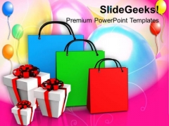 Shopping Bags And Gifts With Abstract PowerPoint Templates Ppt Backgrounds For Slides 1112