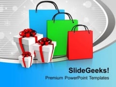 Shopping Bags And Presents PowerPoint Templates Ppt Backgrounds For Slides 0113