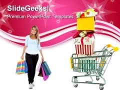 Shopping Cart Lifestyle PowerPoint Templates And PowerPoint Backgrounds 0211