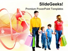 Shopping Family PowerPoint Templates And PowerPoint Backgrounds 0511
