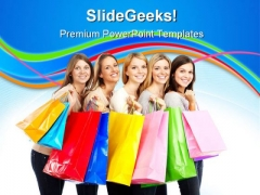 Shopping Women Sales PowerPoint Themes And PowerPoint Slides 0311