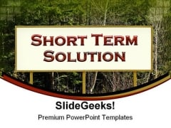 Short Term Solution Business PowerPoint Templates And PowerPoint Backgrounds 0211