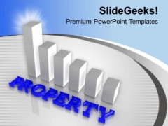 Show Property Hike Bar Graph PowerPoint Templates Ppt Backgrounds For Slides 0413
