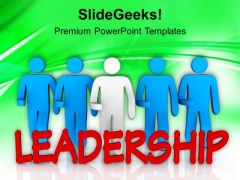 Show Your Leadership Qualities PowerPoint Templates Ppt Backgrounds For Slides 0413