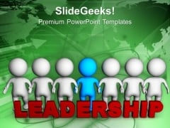 Show Your Leadership Quality PowerPoint Templates Ppt Backgrounds For Slides 0613