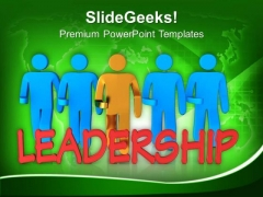 Show Your Leadership Quality To Your Team PowerPoint Templates Ppt Backgrounds For Slides 0613
