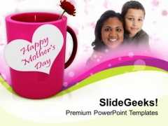 Show Your Love To Mom Happy Mothers Day PowerPoint Templates Ppt Backgrounds For Slides 0513