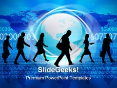 Silhouettes Of People Global PowerPoint Themes And PowerPoint Slides 0211
