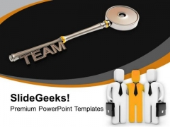Silver Team Key Business Teamwork PowerPoint Templates Ppt Backgrounds For Slides 0313