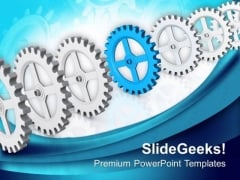 Single Gear Can Change The Process PowerPoint Templates Ppt Backgrounds For Slides 0613